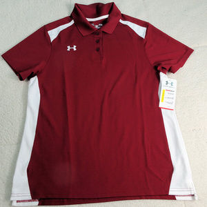 NWT Under Armour Heatgear Loose Polo Shirt Large